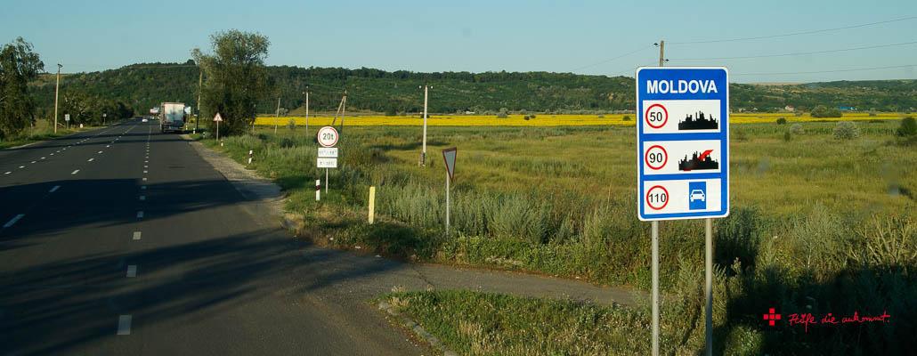 Kurz nach der Grenze von Moldawien
