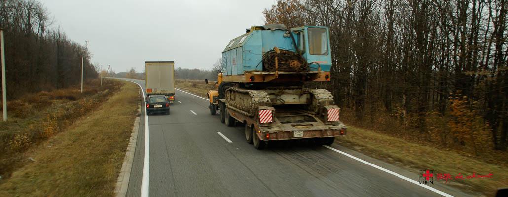 Schwertransport in Moldawien