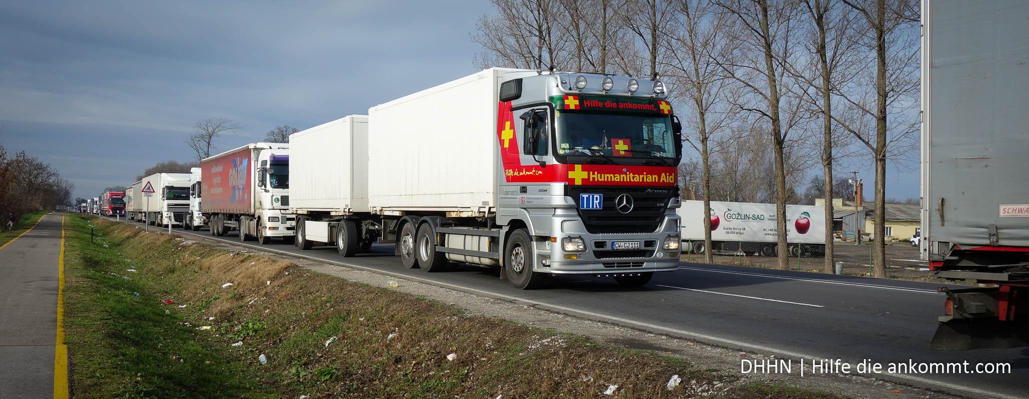 Langer Rückstau an der Grenze nach Rumänien