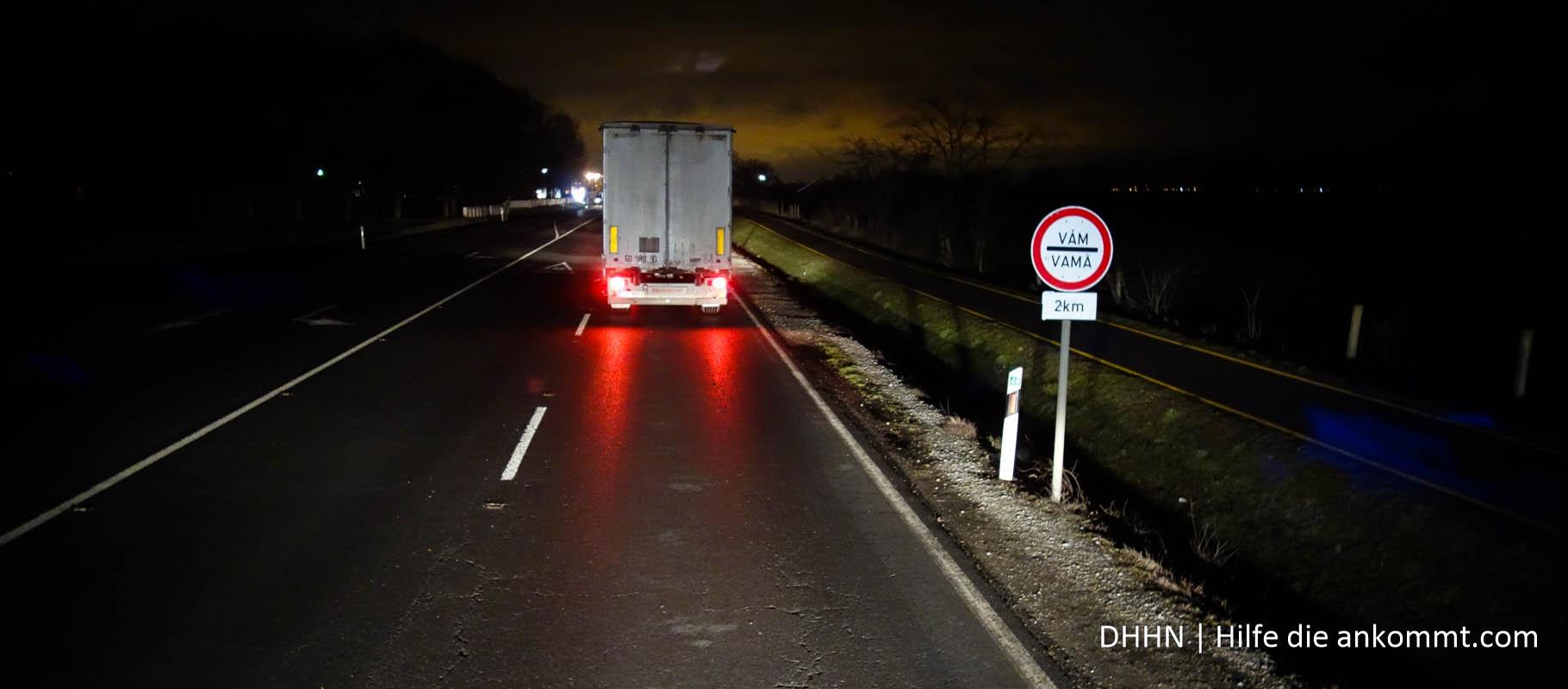 Lange Schlange vor der rumänischen Grenze
